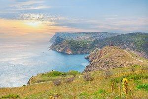 Scenic sea cliff