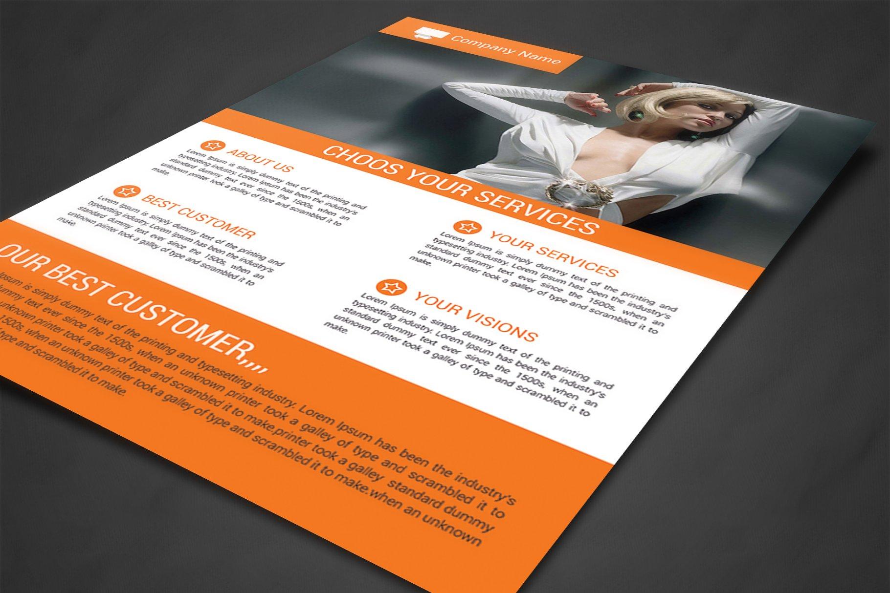 Corporate Flyer Template Templates Creative Market Pro