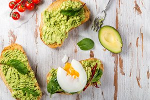 Healthy Breakfast with Bread Toast