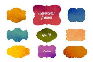 watercolor vector frames