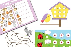 Animals theme activities for kids