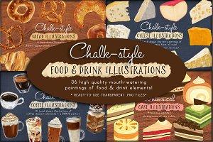 Food & Drinks Art Bundle 50% Off