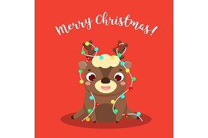 Cute Christmas deer