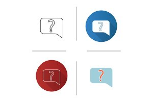 Live help chat icon