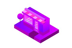 Store, shop, cafe. isometric  icon