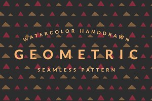 Geometric Watercolor Pattern Vol. 1