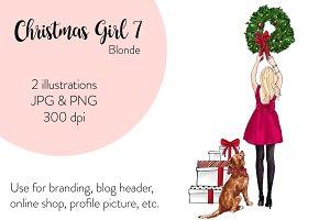 Christmas Girl 7 - Blonde