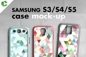 Samsung S3/ S4/ S5 cases mock-up
