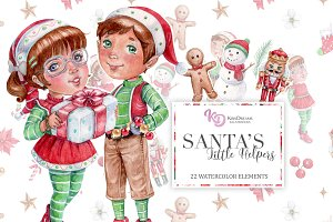 Santa's Little Helpers Clipart