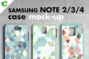 Samsung Note 2/3/4 cases mock-up