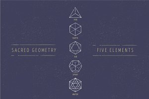 5 Elements - Sacred Geometry icons