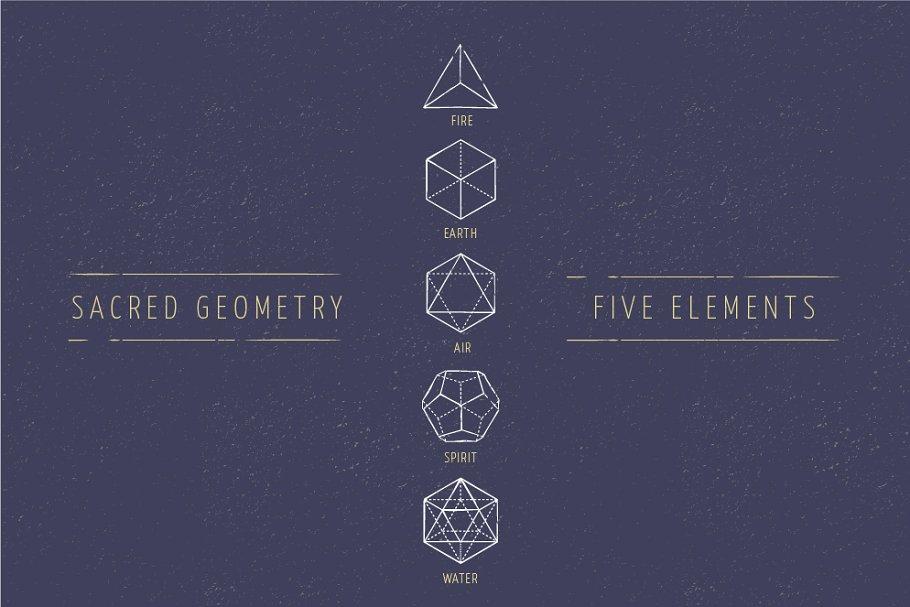 5 Elements - Sacred Geometry icons