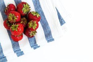 Pile of fresh juicy strawberries on