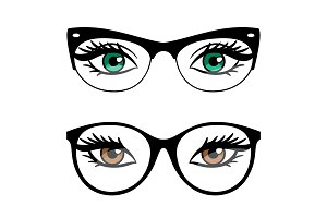 Female eyes and business style