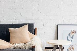 modern living room interior with com