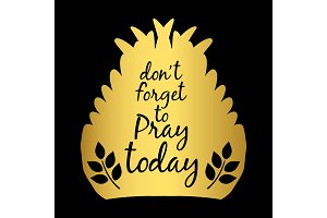 Gold wings silhouette prayer poster