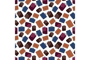 Business suitcase seamless pattern