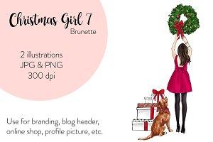 Christmas Girl 7 - Brunette