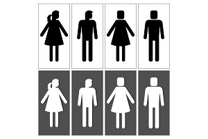 People silhouettes for signs