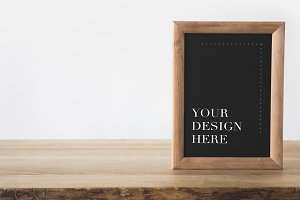 blackboard in frame with text your d