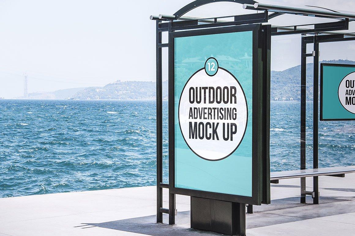 6 poster design photo mockups 57079 - Outdoor Advertising Mock Up