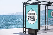 outdoor poster mockup