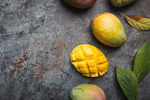 Mango. Tropical Fruits.