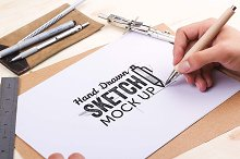 Hand Drawn Sketch Mock Up Pack