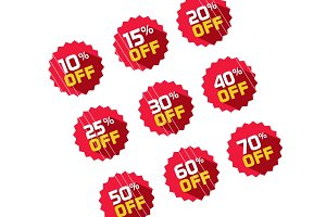 Discount Off Offer Label Vector