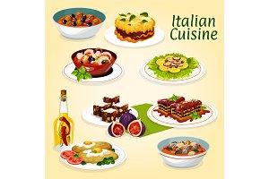 Italian cuisine dinner meals