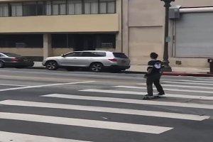 Skaters girl skateboarding on street