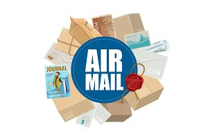 Air mail, letters and parcels