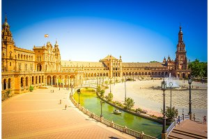 view of Plaza de Espana, Seville
