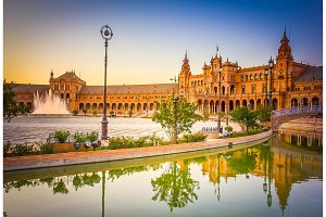 Square of Spain, Seville, Spain
