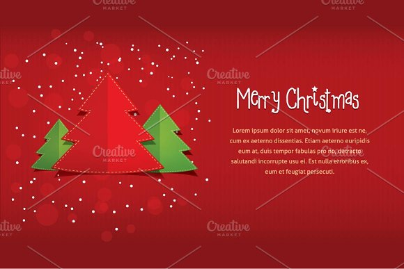 christmas xmas email greeting card illustrations