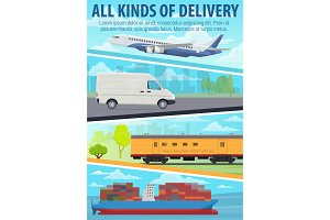 Post delivery, freight transport