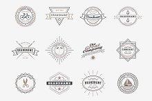 Set of Vintage Badges