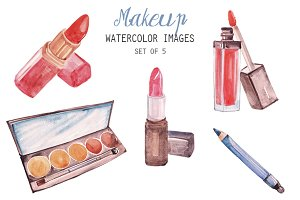Watercolor Makeup Clipart
