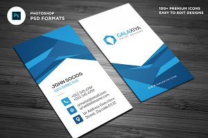 Abstract Vertical Business Card
