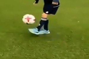 Kids playing soccer, feet soccer