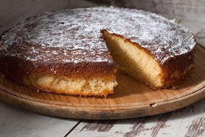 Sponge cake of lemon