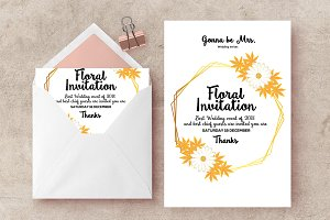Wedding Floral Invites Templates