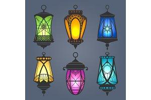 Arabic lantern set