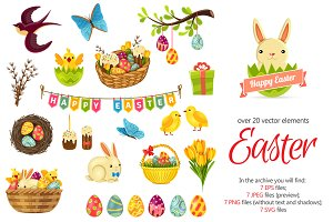 Easter Cartoon Set