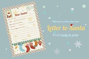 Letter to Santa/wish list