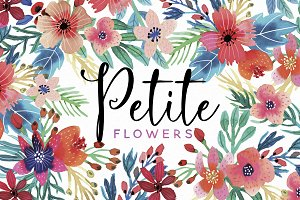 Petite Flowers Watercolor Collection