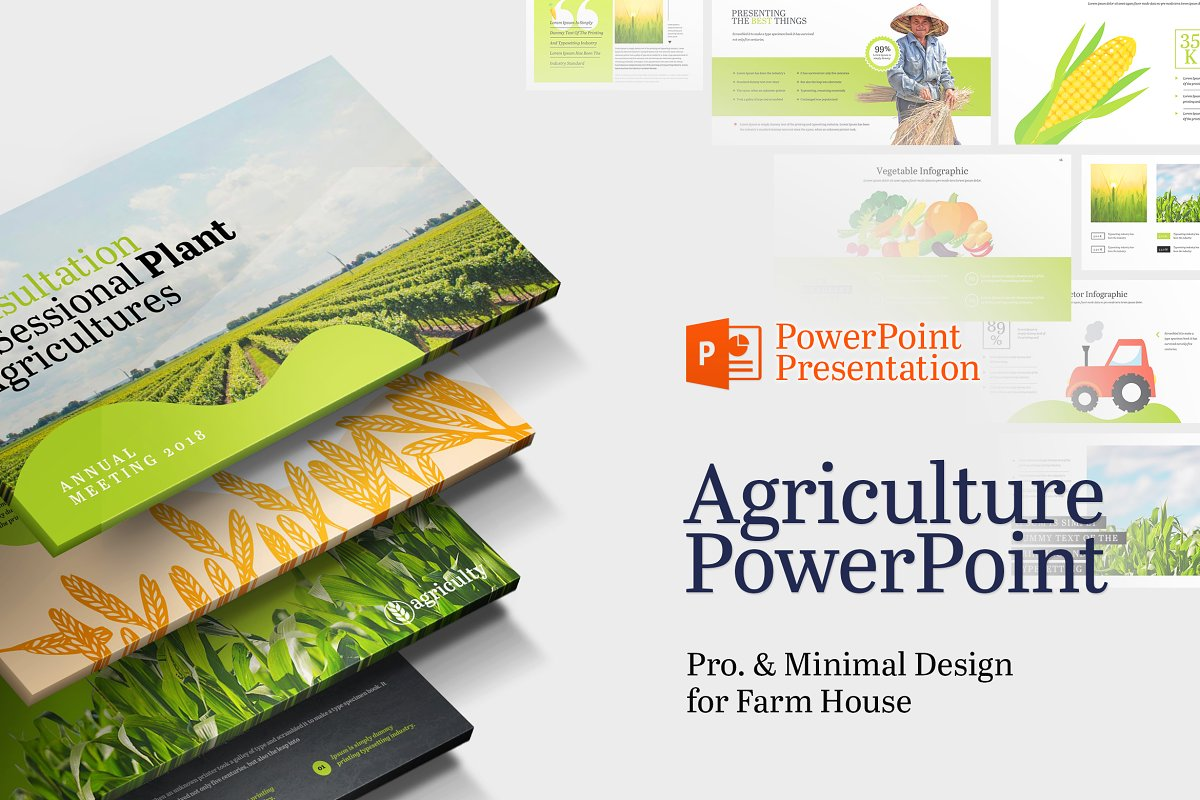 Farm House & Agriculture Powerpoint ~ PowerPoint Templates