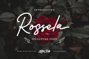 Rossela Signature Font + Extras