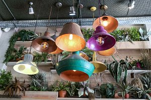 Retro vintage style lamps