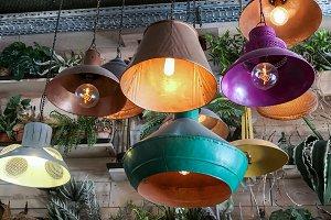 Retro vintage style lamps.
